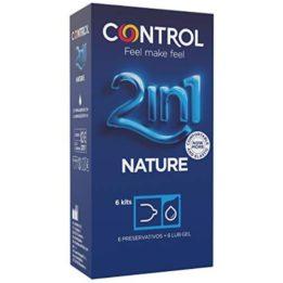 CONTROL DUO NATURA 2-1 PRESERVATIVE + GEL 6 UNITS