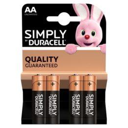DURACELL BASIC BATTERY AA LR6 4UNITS