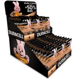 DURACELL PLUS CARDBOARD DISPLAY WITH BATTERIES INCLUDED