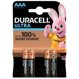 DURACELL ULTRA POWER BATTERY AAA LR03  4UNITS