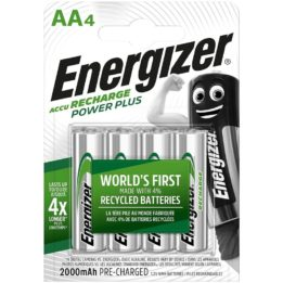ENERGIZER RECHARGEABLE BATTERIES AA4 BLISTER 4