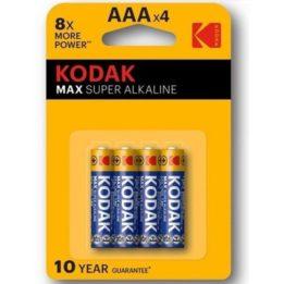KODAK MAX SUPER ALKALINE BATTERY AAA LR03 BLISTER * 4