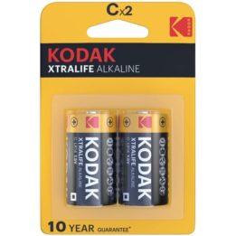 KODAK XTRALIFE ALKALINE BATTERIES C X 2 UNITS