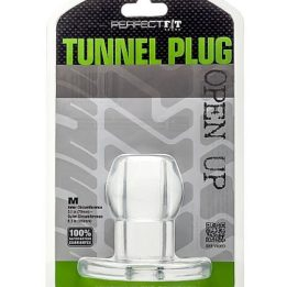PERFECT FIT ASS TUNNEL PLUG SILICONE CLEAR M
