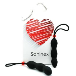 SANINEX CLIMAX ANAL PLUG WITH BLACK PENIS RING