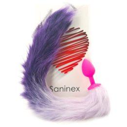 SANINEX SENSATION PLUG WITH LILAC TAIL