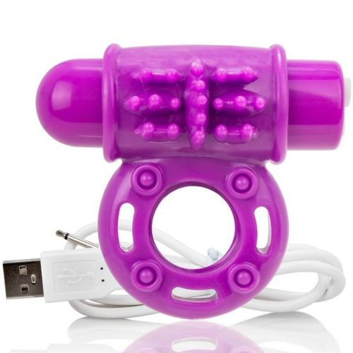 SCREAMING O VIBRATING RECHARGEABLE RING O WOW PURPLE